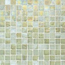 Contemporary Tile Vintage Glass Tile, Onyx Lustre