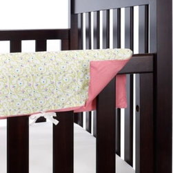 Go Mama Go Designs - Go Mama Go Designs Wildthing 30-Inch x 12-Inch Teething Guard - Create a sophisticated, yet whimsical, nursery for your baby girl with the Wild Thing crib bedding ensemble from Go Mama Go Designs. The pattern features an adorable jungle theme with playful animal characters in hues of pink, yellow, and purple.