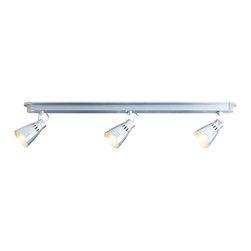 Kramare Ceiling track, 3 spotlights - Ceiling track, 3 spotlights, aluminum.