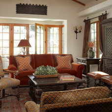 Eclectic Family Room by Catherine Macfee Interior Design