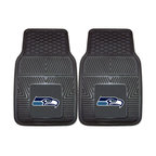 Fanmats - Fanmats Seattle Seahawks 2-piece Vinyl Car Mats - Protect your car while promoting your favorite team with these two-piece vinyl car mats. Featuring the Seattle Seahawks, these sturdy black mats are easily washed and sport a universal design, making it possible to fit them in any vehicle.