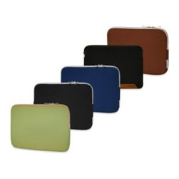 """Sumdex - Sumdex  Neoprene Courier Sleeve for Notebook Computer up to 14-Inches - This lightweight, water repellent, fully-padded neoprene sleeve provides top protection for most 14"""" notebook computers. Features secure zipper closure."""