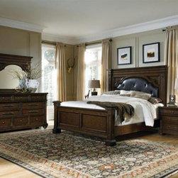 PULASKI Furniture - Durango Ridge Dark Wood King Bed - 673180-1-7 - Durango Ridge Collection King Bed