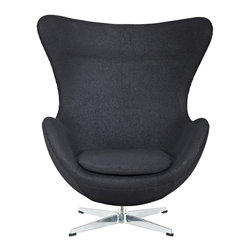 Modway - Glove Lounge Chair in Black - The Glove Chair provides evidence of movement in design to adapt more organic forms into our living spaces. Designed to remind us of the natural world, this chair provides sheer comfort and relaxation. Get back to nature with the Glove Chair.
