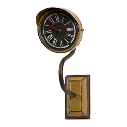 IMAX - Newton Small Clock on a Stand - - With a deep gold hue, the small Newton clock wall piece is inspired by vintage relics and adds dimension to any decor.  - Materials: 100% Iron  - Country of Orgin: China IMAX - 89122