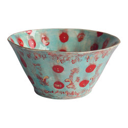 Happy Clay - Handmade Ceramic Serving Bowl in Gypsy Queen - Elegant. Ageless. Contemporary.