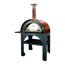 Clementi - Pulcinella Wood Fired Oven by Clementi , Copper - Pulcinella Wood Fired Oven by Clementi - Mustard Color