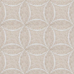 Mission Stone Tile - Interlocking Circles Mosaic, Crema Marfil Marble with Thassos Accent - Sold per Square Foot