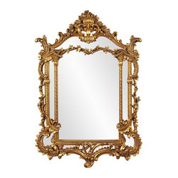 Howard Elliott - Arlington Gold Baroque Mirror - Antique Gold Leaf Baroque Arched Mirror