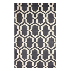 nuLOOM - Contemporary 5' x 8' Grey Hand Hooked Area Rug Trellis BC71 - Made from the finest materials in the world and with the uttermost care, our rugs are a great addition to your home.