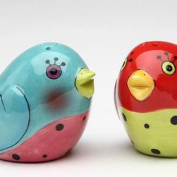 ATD - 3 Inch Red, Blue, Green and Pink Love Birds Salt and Pepper Shakers - This gorgeous 3 Inch Red, Blue, Green and Pink Love Birds Salt and Pepper Shakers has the finest details and highest quality you will find anywhere! 3 Inch Red, Blue, Green and Pink Love Birds Salt and Pepper Shakers is truly remarkable.