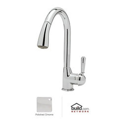 "Rohl - Rohl R7504LMAPC-2 Polished Chrome  Classic Kitchen Faucet with Pull - Classic Kitchen Faucet with Pull Out Spray and Metal Lever handleRohl R7504LM-2 Features:All brass faucet body construction - weight: 8 lbs.Hand-machined from solid brass stockIndustry leading, 1/4 turn lifetime ceramic disc valveSuperior finishing process – chemical, scratch, and stain resistantNumber of installation holes required: 1Insulated brass pullout spray faucet head (not plastic)High-arch gooseneck faucet spout2.2 gallons-per-minute flow rateInstalls onto decks up to 2-1/4"" thickMetal lever handles includedOverall height: 16"" (measured from counter top to highest point of faucet)Spout height: 9-7/16"" (measured from counter top to faucet outlet)Spout reach: 8-3/4"" (measured from center of faucet base to center of faucet outlet)Low lead compliant – complies with federal and state regulations for lead contentDesigned for use with standard U.S. plumbing connectionsExtra secure mounting assemblyAll necessary mounting hardware includedFully covered under Rohl's limited lifetime warrantyManufactured in New Zealand, Western Europe, and/or North AmericaAbout Rohl:Excellence, durability, and beauty. Family values, integrity, and innovation. These are all terms which aptly describe Rohl and its remarkable selection of kitchen and bathroom faucets and fixtures. Since 1983, Rohl has maintained a commitment to providing high-quality plumbing products for residential and commercial applications, while assuring these fixtures would make a difference in the overall décor in the living space. With a dedication to excellence throughout the home, Rohl has been satisfying homes, schools, hospitality venues, and restaurants all around the world. Rohl specializes in providing timeless designs for every type of theme, including traditional, transitional, and modern."