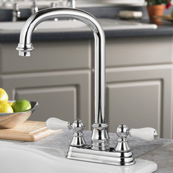 American Standard 2770.732 Hampton Bar / Prep Faucet - The Hampton Collection by American Standard is an English inspired collection. Here you will find a wide variety of traditionally styled products, often with options such as porcelain or metal levers. Certain finishes are also available in a Physical Vapor Deposition (PVD) finish, these are tarnish and scratch resistant finishes that are identical to the non PVD version.