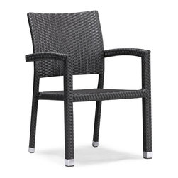 """ZUO VIVE - Boracay Chair Espresso (set of 4) - Add some stylish comfort, ambiance and taste to your breakfast, brunch or dinner meals with the Boracay Table and Chair Set. With this polished set you will be creating a welcoming outdoor dining experience for family and guests. The Boracay Table is a 63"""" dining table that can fit six comfortably Boracay Chairs. The Boracay table and chairs frames are constructed from epoxy coated aluminum and the weave from UV treated polypropylene for maximum resistance against the weather elements. The Table has a 10 mm thick cleared tempered glass top. Enjoy the pleasure of food and good company with the Boracay set."""