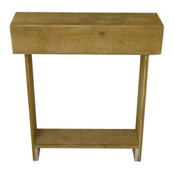 Natural Skinny Wall Table - This natural rustic console measures 26L x 6W x 30H and can be used practically anywhere. From entry ways to bathrooms, it's a great piece to display any decor.