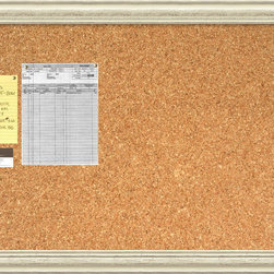 Amanti Art - 'Country Whitewash Cork Board - Large' Framed Art Print 40 x 28-inch - A beautifully framed cork board turns everyday notes and messages into an ever evolving work of art. This Country Whitewash Cork Board features a lovely cream colored frame with a distressed, weathered finish and is perfect for a country, shabby-chic decor.