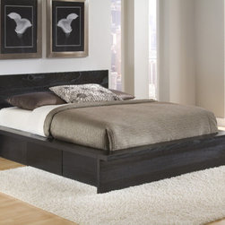 Home Image - City Storage Platform Bed - Features: -City collection. -Charcoal black finish. -Bolt on rail system. -1 Year warranty. -Drawers not included (sold separately).