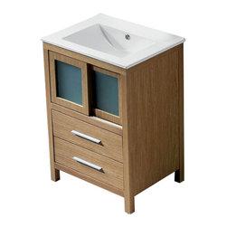 """Vigo - Vigo 24 Alessandro Single Bathroom Vanity, White Oak (VG09019105K1) - Vigo VG09019105K1 24"""" Alessandro Single Bathroom Vanity, White Oak"""