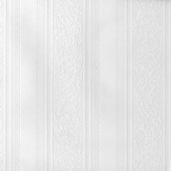 Brewster Home Fashions - Dorothy Textured Stripe Paintable Wallpaper Bolt - Enjoy the timeless beauty of striped wall in the color of your dreams! This pretty paintable wallpaper is embossed with a distinguished striped texture. It allows you the creative freedom to choose the paint color and also provides an affordable solution for surface imperfections like a fresh start with a beautiful pattern.