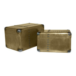 Terence Trunks - Set of 2 - Compact living requires storage you can leave out in the open, and we think these handsome trunks will do the trick. Hide things away for the next season, then stack the trunks and use them as a unique table for the entry or beside the sofa.