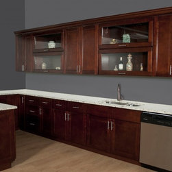 Harlan Shaker - Full Kitchen with peninsula - This is a photo of a kitchen done in our Harlan ...