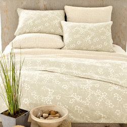 Pine Cone Hill - Pine Cone Hill Batik Blossom Clay Duvet Cover - Instant tranquility. The Batik Blossom duvet cover blooms with delicate cherry blossoms that drift across a versatile gray background. Made with cozy cotton percale, its spring-inspired motif creates a soothing, Zen-like feeling in your sanctuary. Hidden button closures keep the look clean. Available in multiple sizes: Twin, Full/Queen, or King100% cotton percale200 thread countHidden button closureMachine wash; tumble dryShips in 1-2 weeks