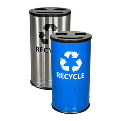 Recycling Receptacles - 3 Stream Openings With 14 Gallon Capacity