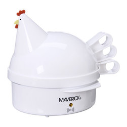Maverick - Maverick Henrietta Hen Egg Cooker - Enhance your kitchen decor with a Henrietta Hen egg cooker Specialty appliance hard or soft boils up to seven eggs Appliance is designed in the shape of a stylized chicken