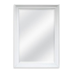 Mcs Industries, Inc. - Decorative 30.25-Inch x 42.25-Inch Wall Mirror in White - This simple and elegant decorative mirror features a white finish frame. Perfect for any room in your home, this mirror adds a touch of sophistication and the feeling of more space to any decor.