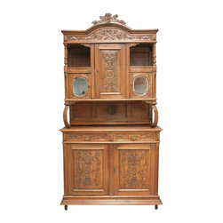 EuroLux Home - Consigned Vintage French Louis XVI Carved Oak Buffet - Product Details