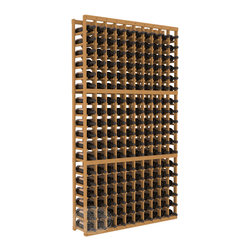 10 Column Standard Cellar Kit in Pine with Oak Stain - This rack is vital to any serious wine collector. Rock solid assembly of high grade pine or redwood is guaranteed to last. Designed for expandability, stability and rigidity; we don't top-load an extra bottle to meet our specs.