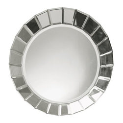"""Uttermost - Uttermost 11900 B Fortune Round Frameless Mirror - Uttermost 11900 B Carolyn Kinder Fortune MirrorThis frameless, beveled mirror is accented by several small, rectangular beveled mirrors creating a """"web"""" effect.  All edges have been polished for a smooth finish.Features:"""