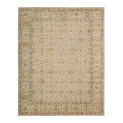 "Nourison - Nourison Nourison 3000 3103 (Beige) 5'6"" x 8'6"" Rug - Nourison's ultimate 100% New Zealand wool handcrafted carpets feature exquisitely hand carved elegant designs, intricately woven with generous portions of pure silk. The Nourison 3000 sets a new standard in superb construction and beauty that rivals the world's finest heirloom rugs, and will proudly become the centerpiece of any room in the home."