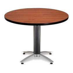 OFM - OFM 42 Round Mesh Base Multi-Purpose Table, Cherry - This 42 round table looks elegant in both lunch and meeting rooms and looks great with the model 310 stack chairs. The banding makes the edges smooth and gives it a finished appearance. The honeycomb core makes the table both lightweight and sturdy.