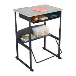"""Safco - Safco AlphaBetter 20"""" x 38"""" Student Desk in Beige with Book Box - Safco - Classroom Desks - 1202BE - About This Product:"""