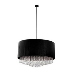 Eurofase Penchant Collection 6-Light Chrome and Black Pendant 20586-010