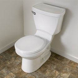 """American Standard Cadet 3 Right Height Round Toilet 14"""" Rough - Smarter design for higher performance and fewer clogs – all at a great price. The Cadet® 3 series toilets come in a variety of styles; one piece and two piece models, elongated and round front bowls, right height and compact versions and even water efficient models that flush on just 1.28 gallons per flush. The Cadet 3 is a hard working versatile series with superior performance."""