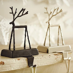 Twig Reindeer Stocking Holder -