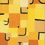 """Paul Klee Characters in Yellow - 14"""" x 28"""" Premium Archival Print - 14"""" x 28"""" Paul Klee Characters in Yellow premium archival print reproduced to meet museum quality standards. Our museum quality archival prints are produced using high-precision print technology for a more accurate reproduction printed on high quality, heavyweight matte presentation paper with fade-resistant, archival inks. Our progressive business model allows us to offer works of art to you at the best wholesale pricing, significantly less than art gallery prices, affordable to all. This line of artwork is produced with extra white border space (if you choose to have it framed, for your framer to work with to frame properly or utilize a larger mat and/or frame).  We present a comprehensive collection of exceptional art reproductions byPaul Klee."""