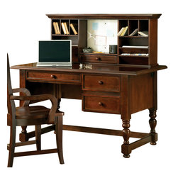 Steve Silver Furniture - Steve Silver Bella Writing Desk with Hutch in Cherry - The Bella desk (Cherry) provides the perfect home or office setting to keep you organized and your room looking stylish. Available in black, white or cherry.