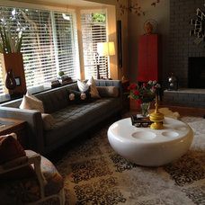 Eclectic Living Room by Noor G.V. Interiors