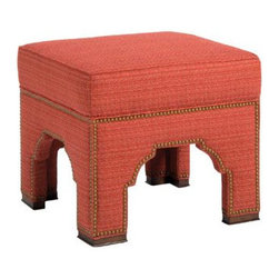 Pearson Ottoman - Quirky, cute and walking the line somewhere between traditional and modern, this ottoman by Pearson would be a welcome addition to my living room.