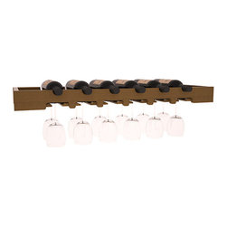 Wine Racks America - 6 Bottle Scalloped Stemware Rack in Redwood, Oak + Satin Finish - Garner attention to your best wine and stemware with this beautiful Scalloped Stemware Rack. Keep glasses safe and sound while storing wine bottles over the top. Create an ornate and functional setting paired with a Wine Tasting Table.