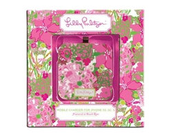 Lilly Pulitzer - Lilly Pulitzer Mobile Charger 8-Pin, Beach Rose - When your iphone needs extra boost to get through for rest of the day no worries, just find our Lilly Pulitzer Mobile Charger. This square Lilly Pulitzer battery extender charges iPhone up to 80% & is also compatible with iPods & iPads. Charger re-charges through USB 2.0 connection. Charger cord included.