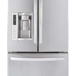 """LG - LFX25978ST Energy Star Rated 33"""" 24.9 Cu. Ft. Freestanding 3 Door French Door Re - The LG LFX25978S 33 in wide 249 Cu Ft French door refrigerator in stainless steel has the largest capacity in the market and features like a tall water dispenser with an ice system that actually frees up shelf space With that and much more you get th..."""