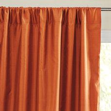 Silk Shantung Window Panel – Saffron | Serena & Lily