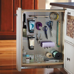 Getting Organized with Fieldstone Cabinetry - Peg Board Pull Out, fully customizable