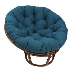 Blazing Needles - Blazing Needles Papasan 44-inch Twill Cushion - Add a touch of style and comfort to your indoor furnishings with the 44-inch Papasan twill cushion. This cushion features a classic,tufted design,a round shape and soft polyester fill.
