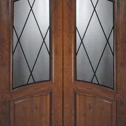 """Slab Double Door 96 Wood Alder Sandringham Arch Top Arch Lite Glass - SKU#E91405BrandGlassCraftDoor TypeExteriorManufacturer CollectionArch Top Double DoorDoor ModelSandringhamDoor MaterialWoodWoodgrainKnotty AlderVeneerPrice3800Door Size Options2(36"""") x 96"""" (6'-0"""" x 8'-0"""")  $0Core TypeDoor StyleArch TopDoor Lite StyleArch LiteDoor Panel StyleHome Style MatchingDoor ConstructionEstanciaPrehanging OptionsSlabPrehung ConfigurationDouble DoorDoor Thickness (Inches)1.75Glass Thickness (Inches)Glass TypeTriple GlazedGlass CamingBlackGlass FeaturesTempered , BeveledGlass StyleGlass TextureGlass ObscurityDoor FeaturesDoor ApprovalsWind-load Rated , SFI , TCEQ , AMD , NFRC-IG , IRC , NFRC-Safety GlassDoor FinishesDoor AccessoriesWeight (lbs)575.2Crating Size25"""" (w)x 108"""" (l)x 52"""" (h)Lead TimeSlab Doors: 7 daysPrehung:14 daysPrefinished, PreHung:21 daysWarrantyOne (1) year limited warranty for all unfinished wood doorsOne (1) year limited warranty for all factory?finished wood doors"""