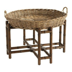 West Indies Coffee Table - This is NOT your traditional coffee table. I like the basket; it gives a nice texture here.